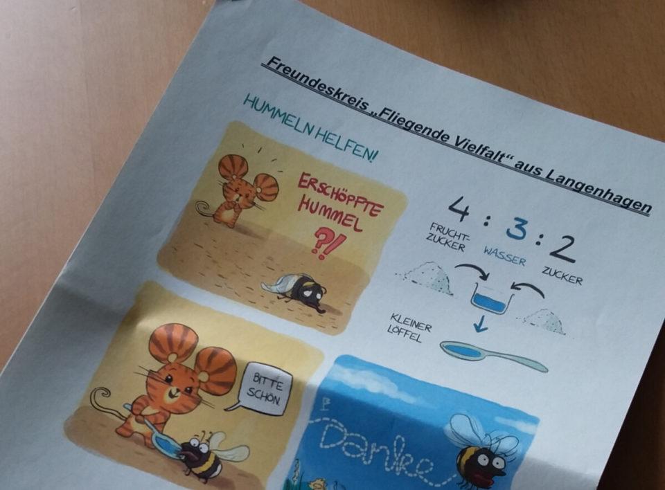 """Hummelschutz-Broschüre vom Freundeskreis """"Fliegende Vielfalt"""""""